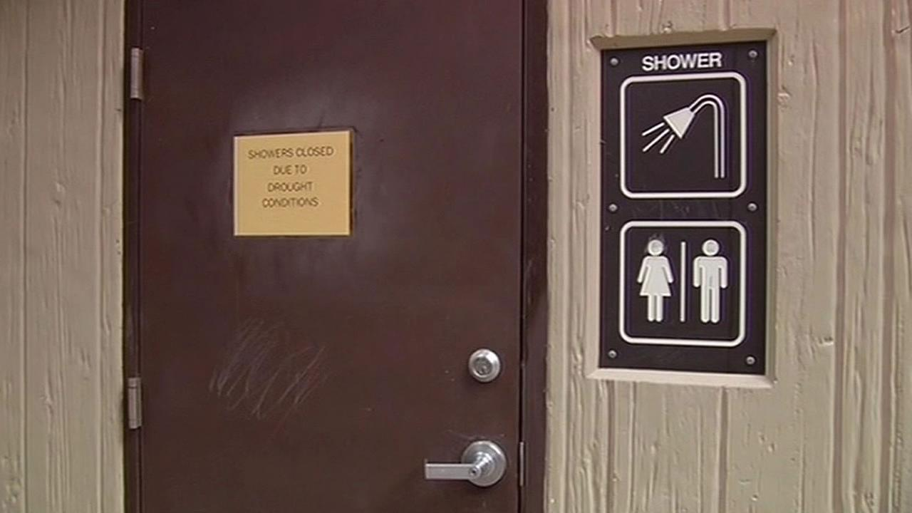 Shower room at Memorial County Park in Loma Mar is closed