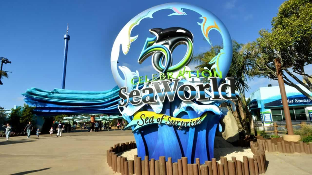 SeaWorlds 50th Celebration sculpture in San Diego. (PRNewsFoto/SeaWorld Parks and Entertainment/Mike Aguilera/SeaWorld)
