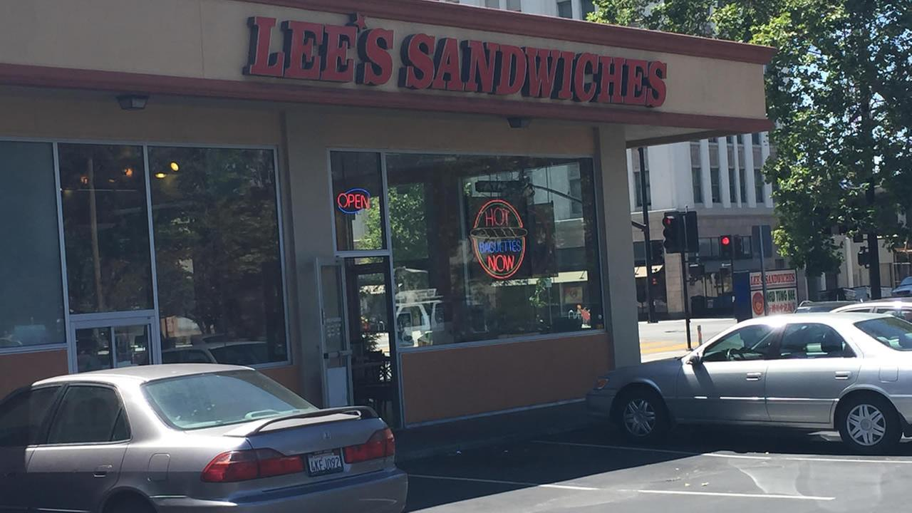 A Lees Sandwiches shop in San Jose, Calif. on Monday, May 25, 2015.