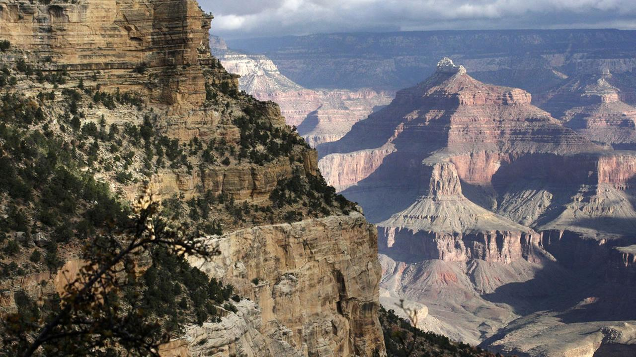 The South Rim of the Grand Canyon National Park in Arizona.