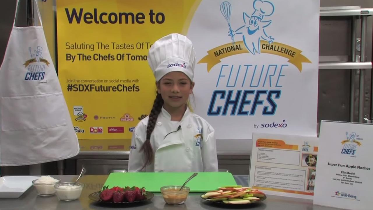 Elle Medel, 9, from San Jose, Calif. won the 2015 Sodexo National Future Chefs Competition.