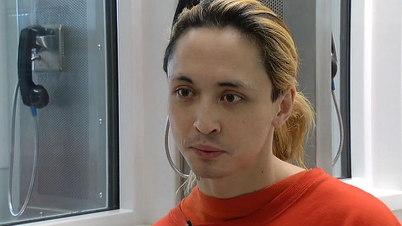 Nicole Dipo, whos accused of stealing Zipcars in San Francisco, spoke with ABC7 News reporter Vic Lee from her jail cell in San Bruno, Calif. on May 27, 2015.