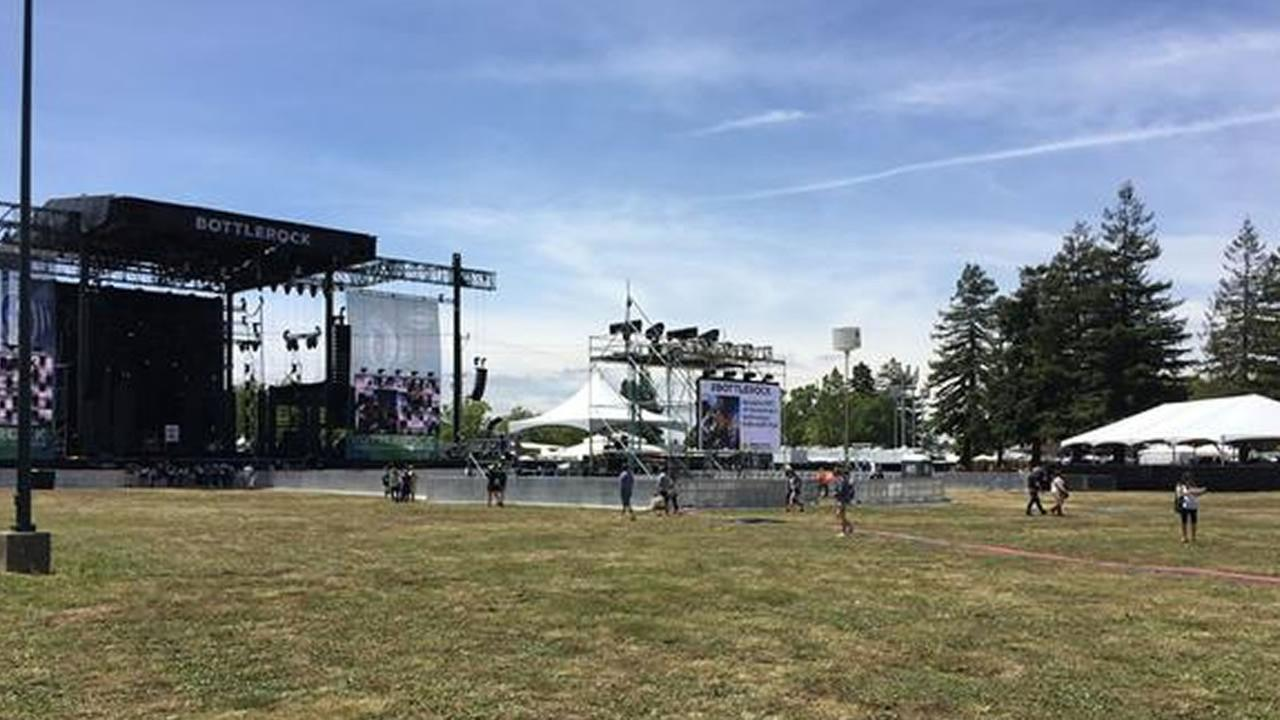 Stage at the  BottleRock Napa Valley Festival 2015 in Napa