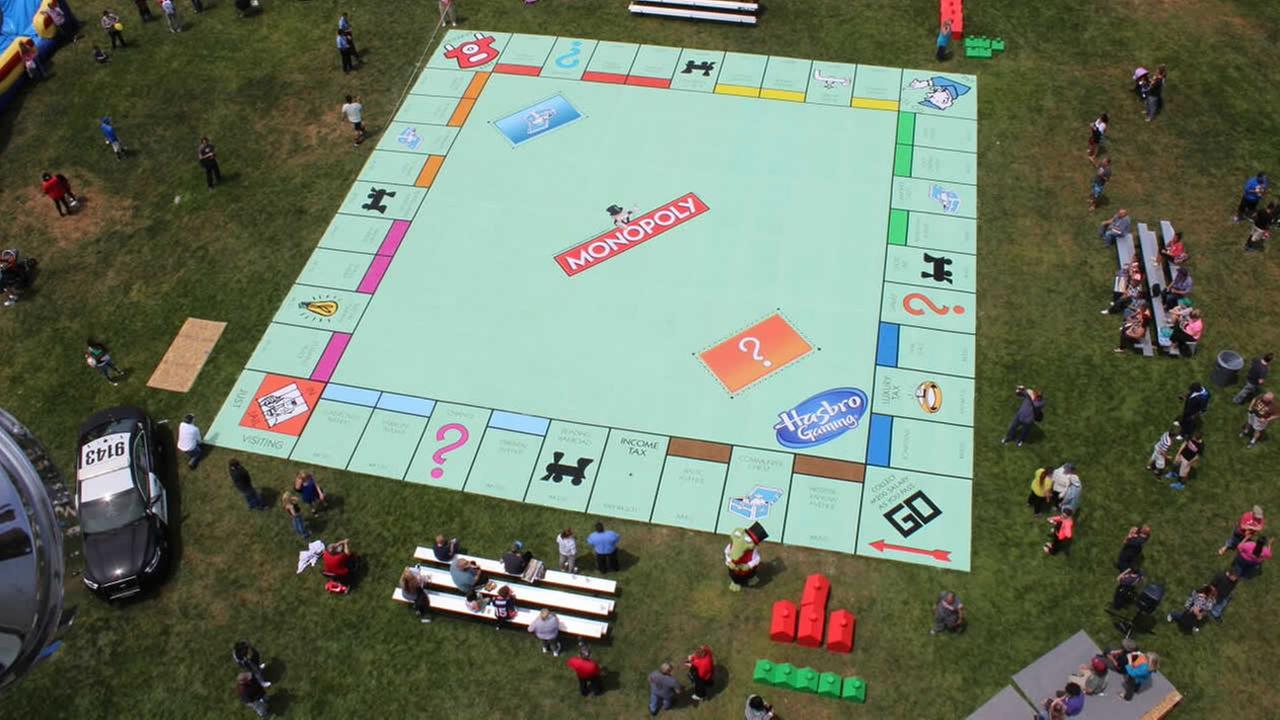 Supporters of the Salvation Army Ray and Joan Kroc Center in Suisun City, Calif. attempted to build the worlds largest Monopoly game board on May 30, 2015.