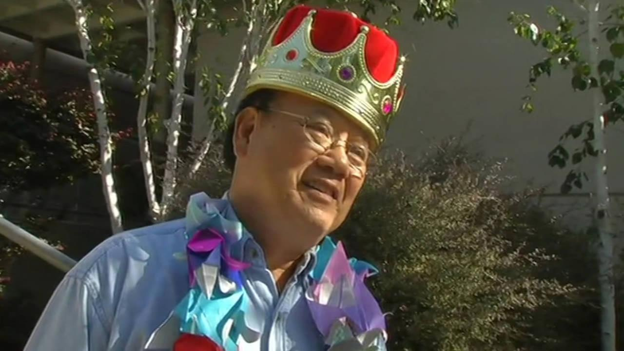 Quan Nguyen, whos retiring from Springhill Elementary School in Lafayette, Calif. after 25 years, was thrown a surprise retirement party on June 3, 2015.