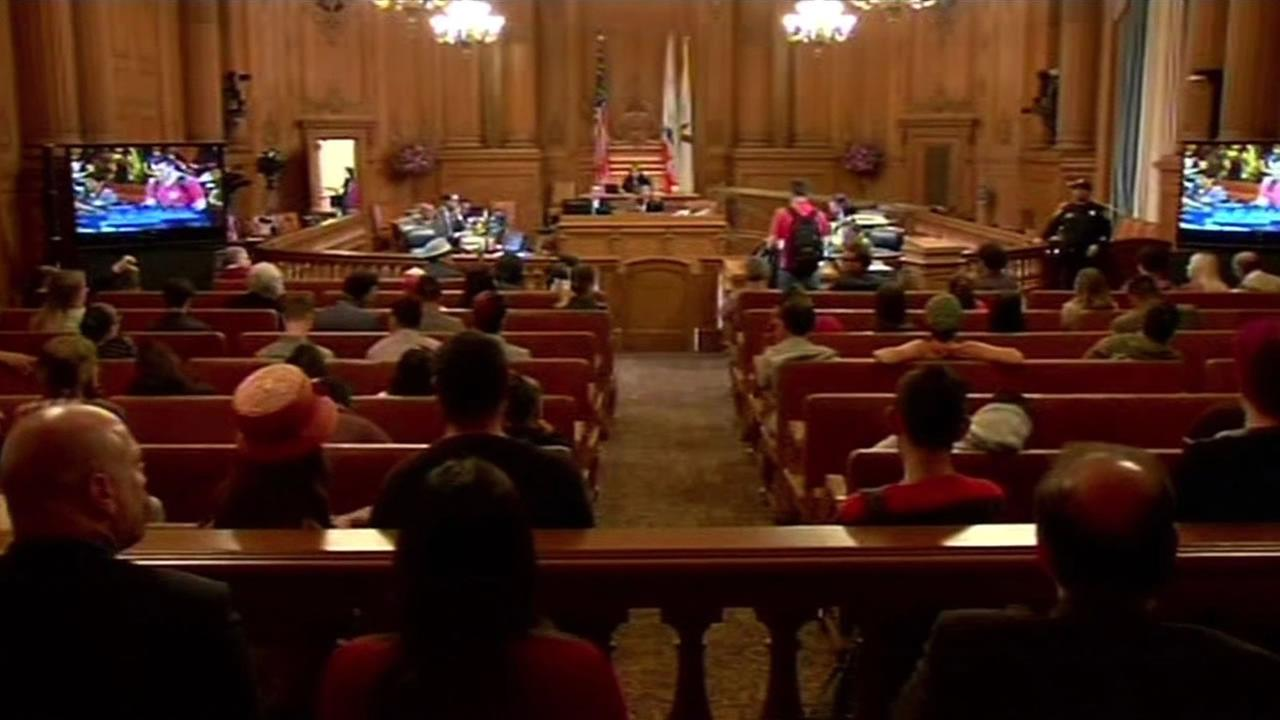 The San Francisco Board of Supervisors voted against temporarily halting construction of high priced apartments and condos in the Mission District on Tuesday, June 3, 2015.