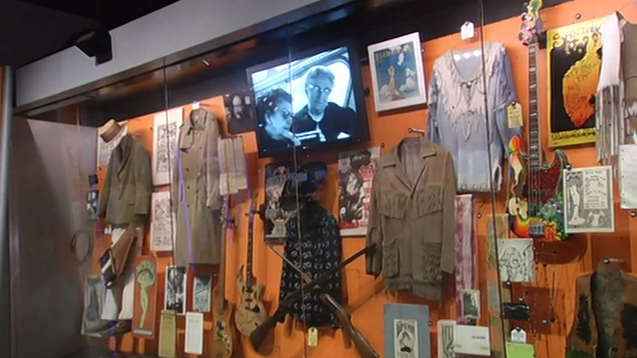 The Rock and Roll Hall of Fame in Cleveland, Ohio has a special exhibit that pays tribute to the Bay Area culture that attracted lots of Warriors fans on Wednesday, June 10, 2015.