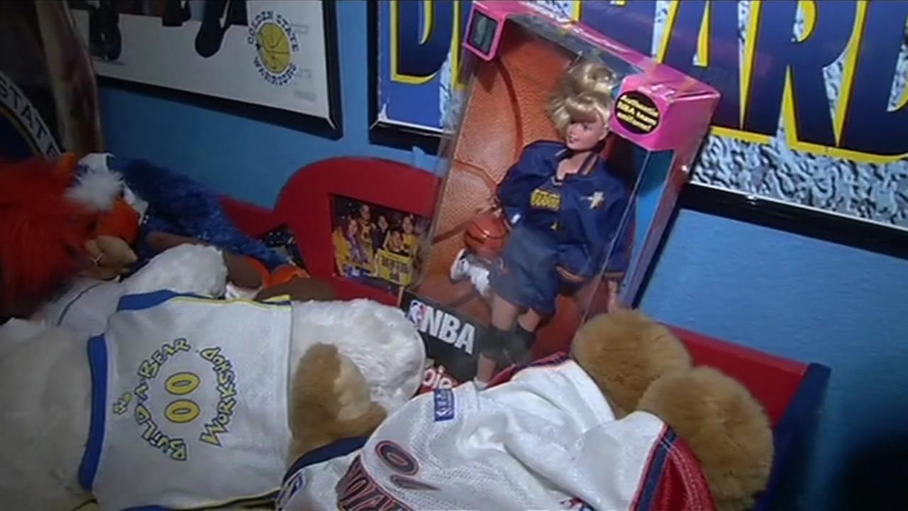 Alvan has a Barbie doll with a Dubs outfit onKGO-TV