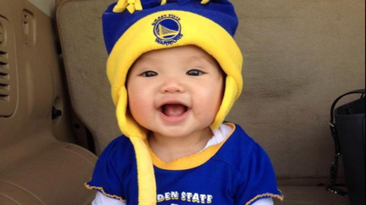 This cutie is ready for a Warriors win! Tag your photos on Facebook, Twitter, Google Plus or Instagram using #DubsOn7.Photo submitted to KGO-TV by @emily0128/Twitter