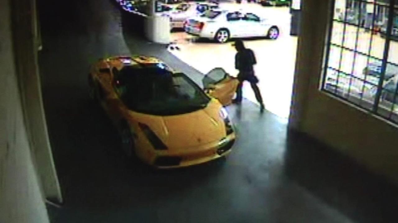 Surveillance video of Max Wade stealing Guy Fieris Lambo