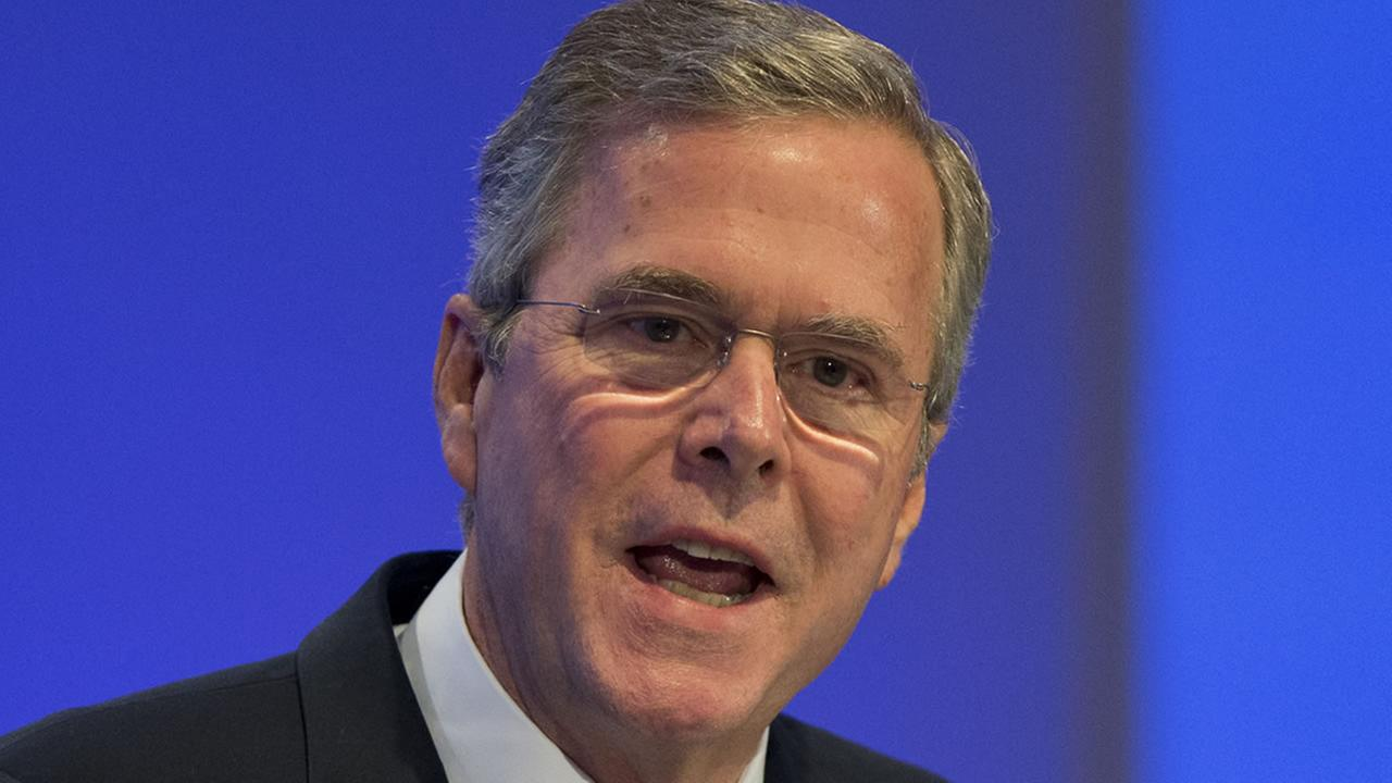 Former US Governor Jeb Bush speaks at the Economic Council in Berlin, Germany, Tuesday, June 9, 2015.