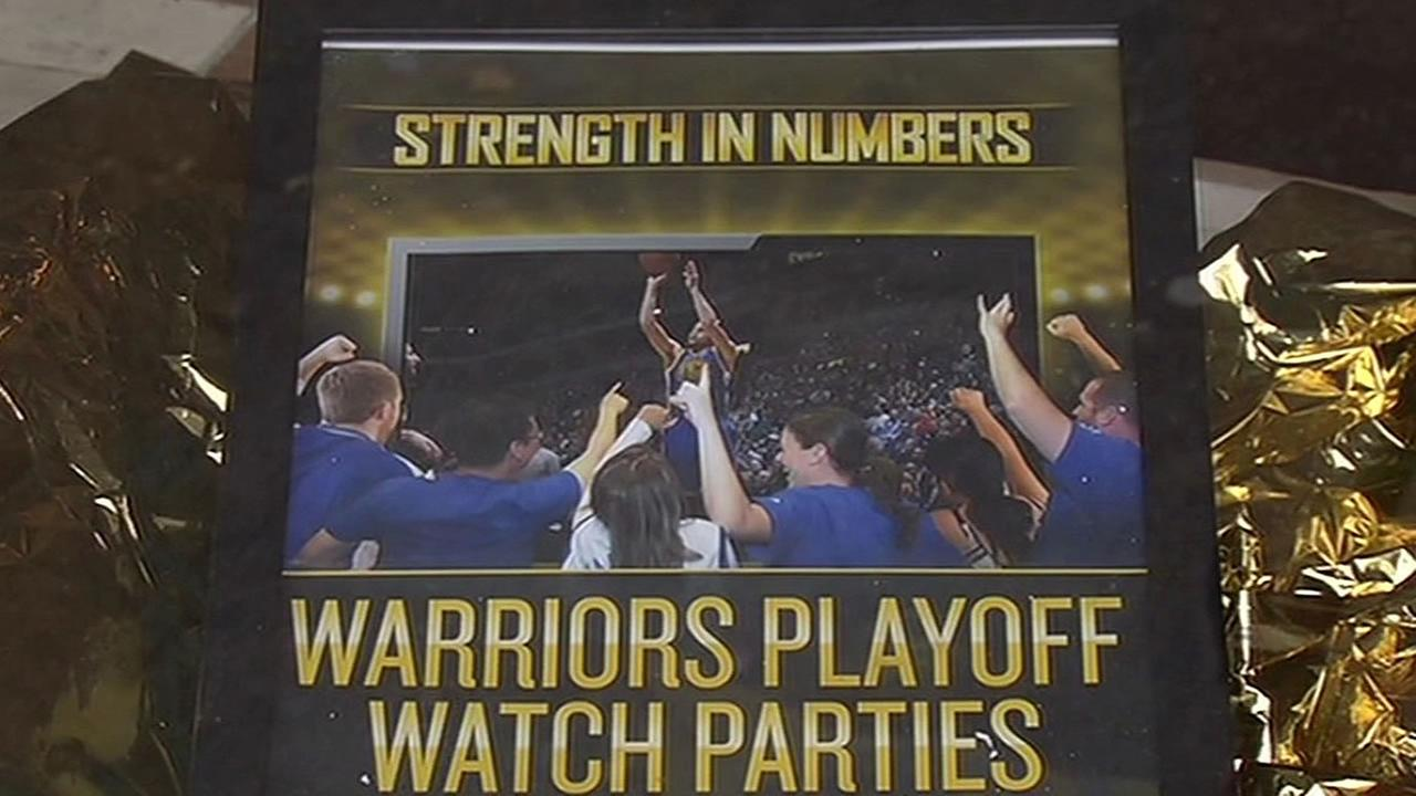 Warriors watch party poster