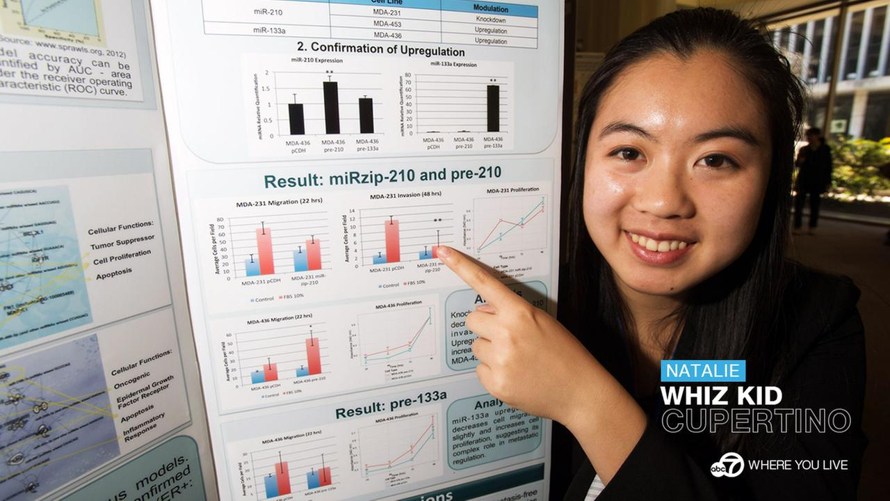WHIZ KID: Natalie Ng received a $30,000 award at the Intel Science Talent Search 2014 for developing a diagnostic tool to more accurately predict the spread of breast cancer cells.
