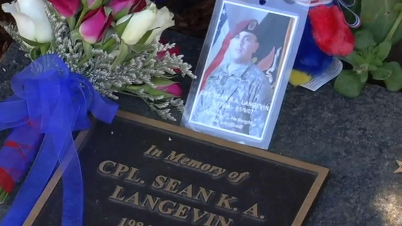 Cpl. Sean Langevens memorial in Walnut Creek
