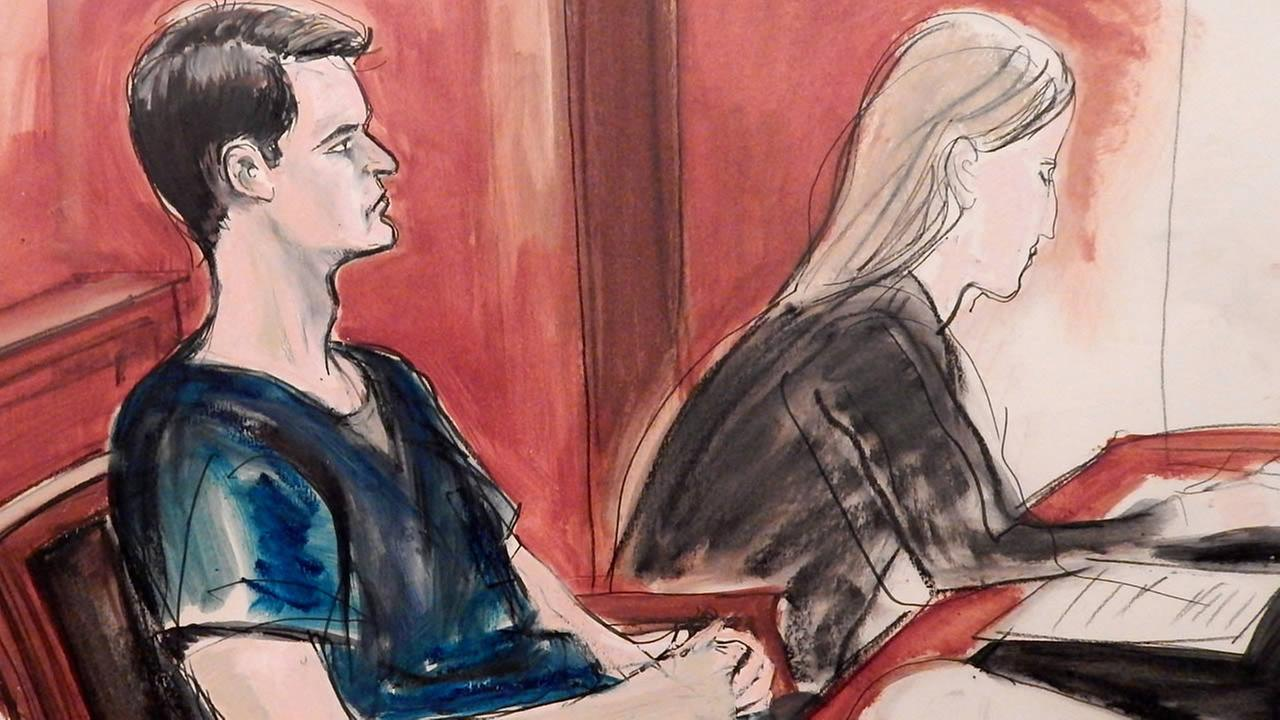 The San Francisco man who created the online drug-selling site Silk Road was sentenced to life in prison on Friday, May 29, 2015 in New York. (AP Photo/Elizabeth Williams)