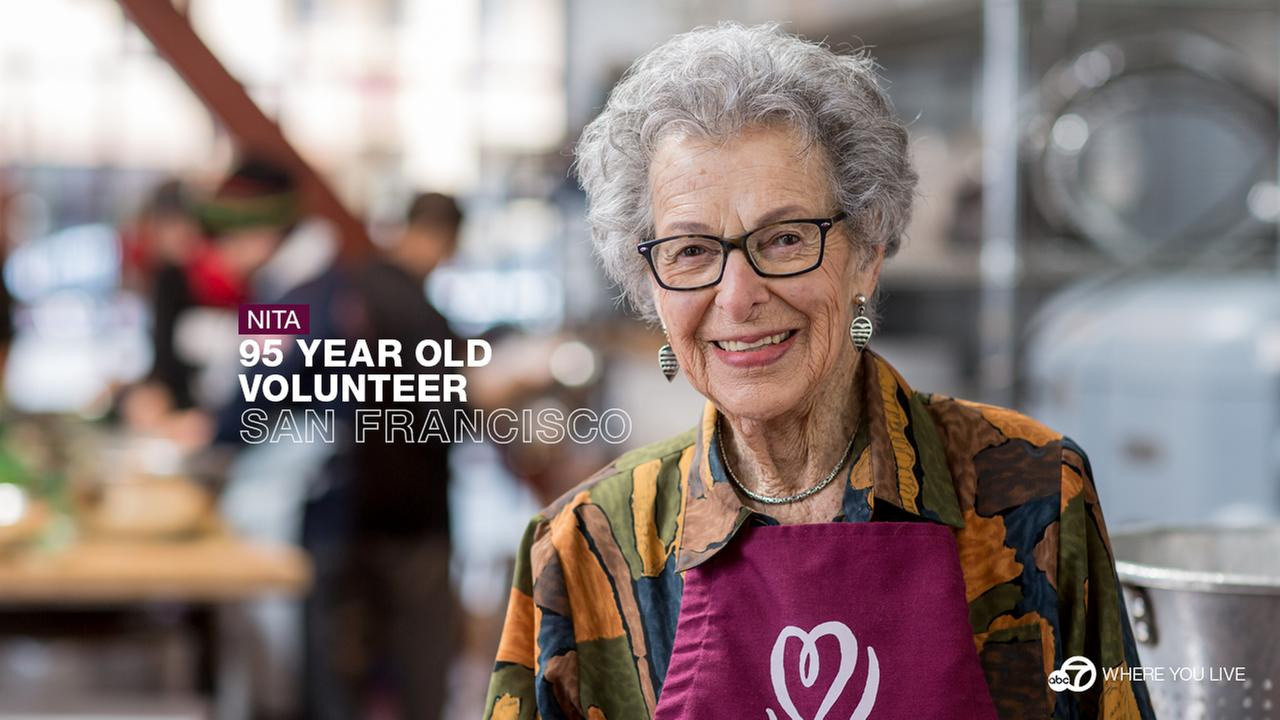 THE DEDICATED VOLUNTEER: Nita Juelich has 95 years of life under her belt. Shes spent the last 25 volunteering at Project Open Hand, which feeds 2,500 people in need every day.
