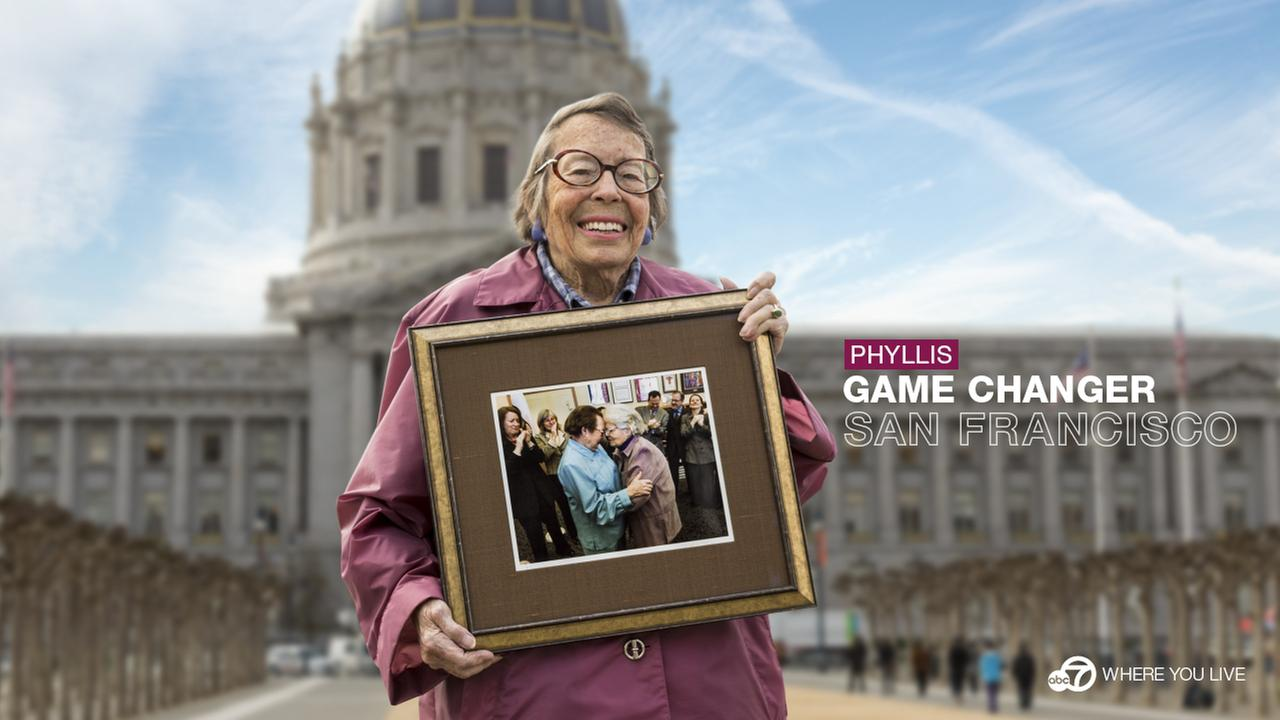 THE GAME CHANGER: Phyllis Lyon  and her late wife Del Martin have a long legacy of fighting for change. In 2004, they were the first same-sex couple to be legally married in SF.