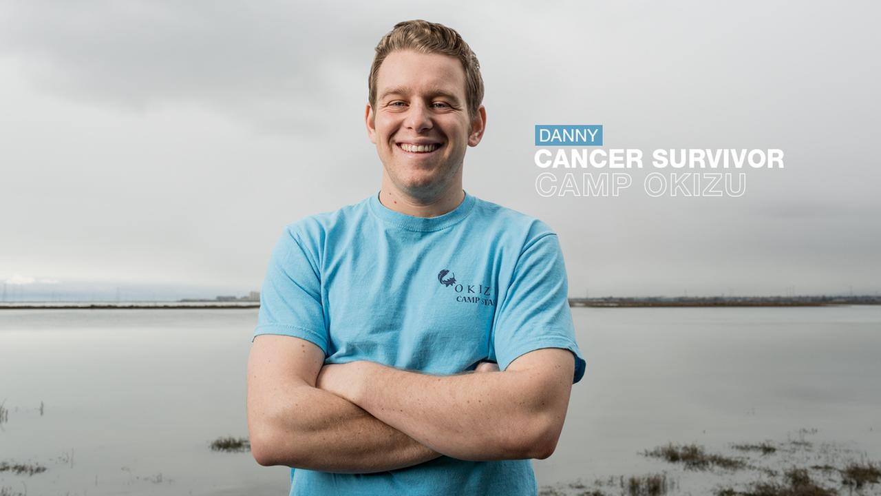 THE SURVIVOR: Dannys smile says it all. Hes overcome cancer twice in his 27 years, with some loving support from his friends at Camp Okizu.