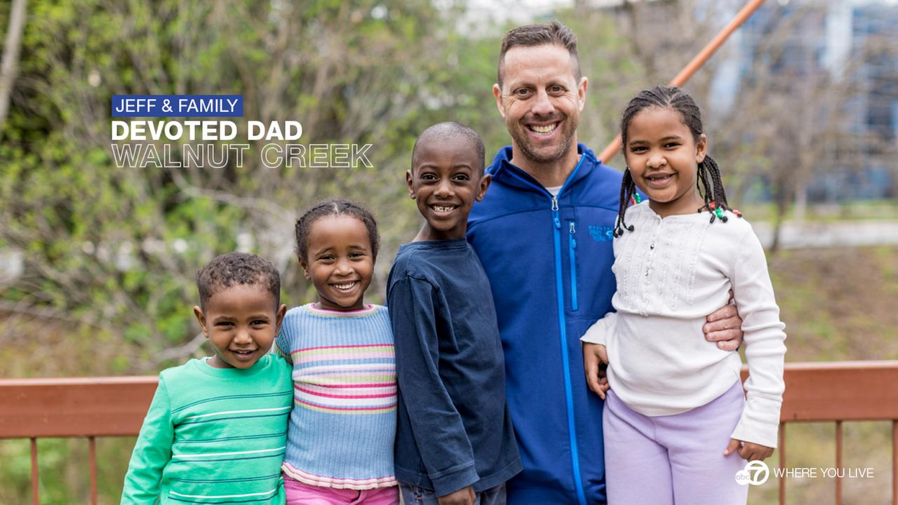 THE DEVOTED DAD: Jeff Loving and his wife Brenda adopted 4 beautiful children from Ethiopia. Sadly, Brenda passed away shortly after their family was complete.