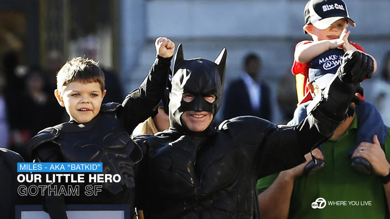 OUR LITTLE HERO: Where were you the day Batkid saved the City? Who knew that Miles wish would make everyone stop, enjoy the moment and spread the joy. Best day ever!