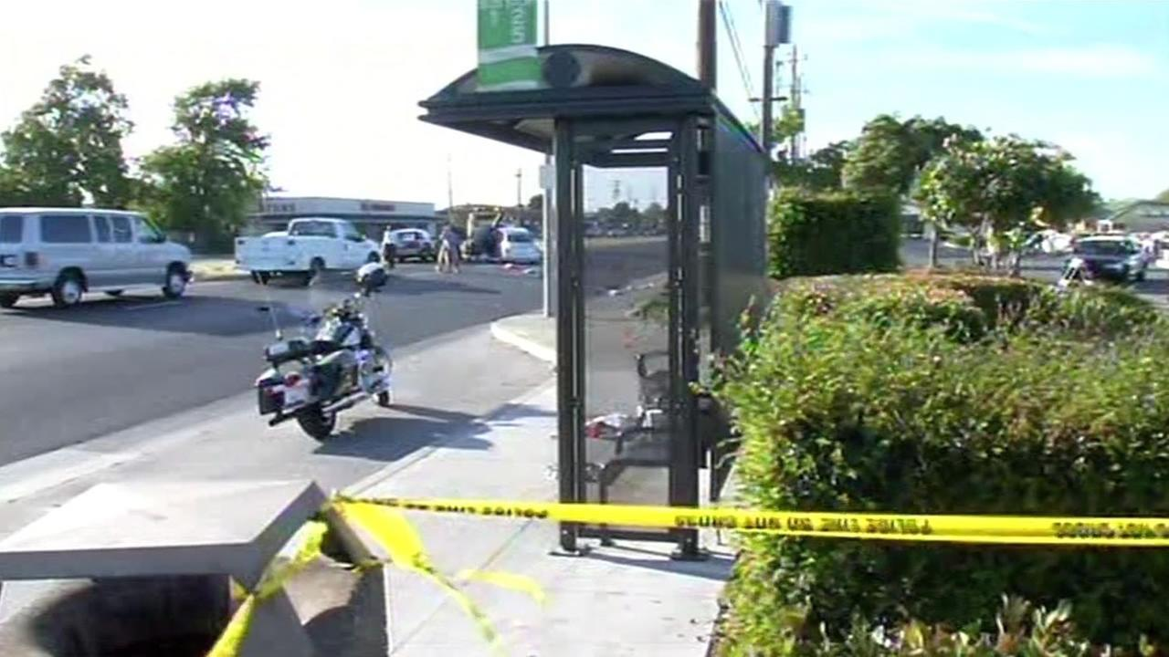 A driver drove his car through a Vallejo, Calif. bus stop on Friday, June 19, 2015, killing one pedestrian and injuring five others.