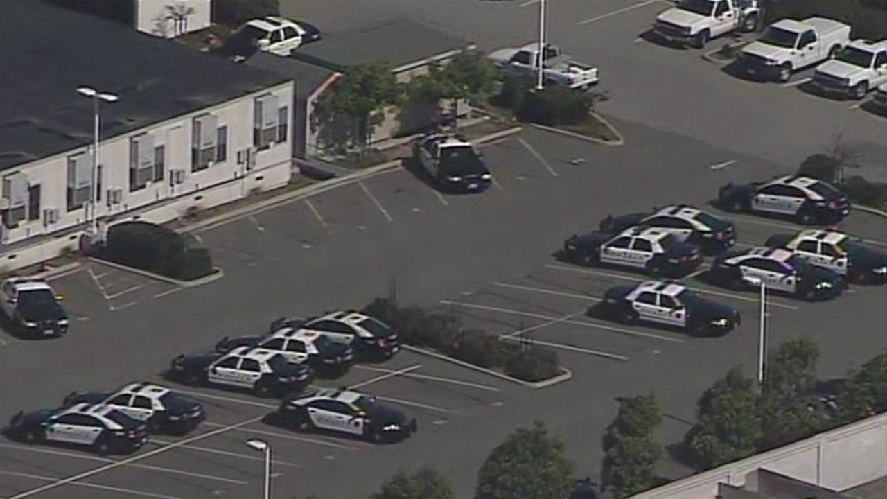 This image from Tuesday, June 23, 2015 shows Richmond Police Department  parking lot in Richmond, Calif.