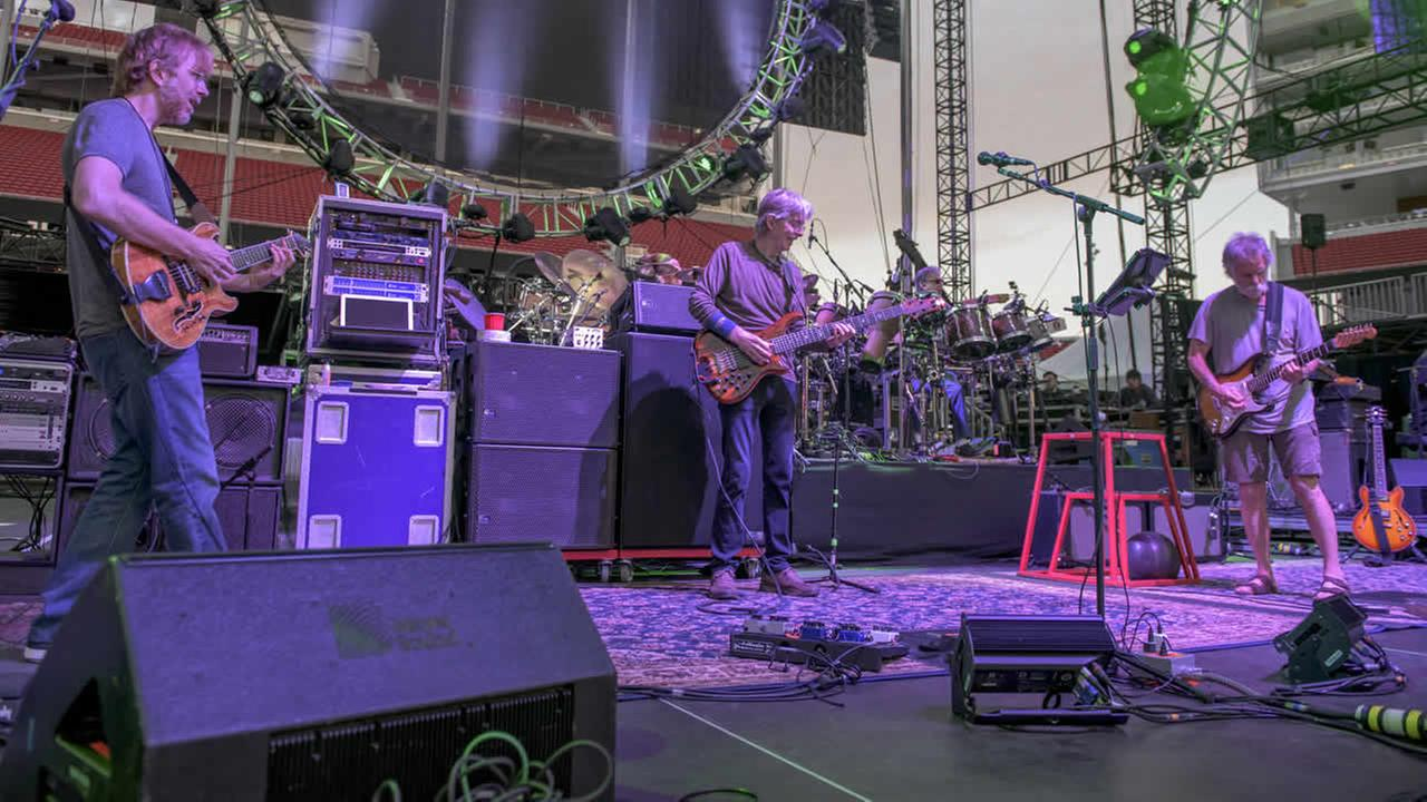 Trey Anastasio, Phil Lesh and Bob Weir of the Grateful Dead perform at Grateful Dead Fare Thee Well Rehearsal at Levis Stadium on June 26, 2015, in Santa Clara, Calif. (AP Photo)