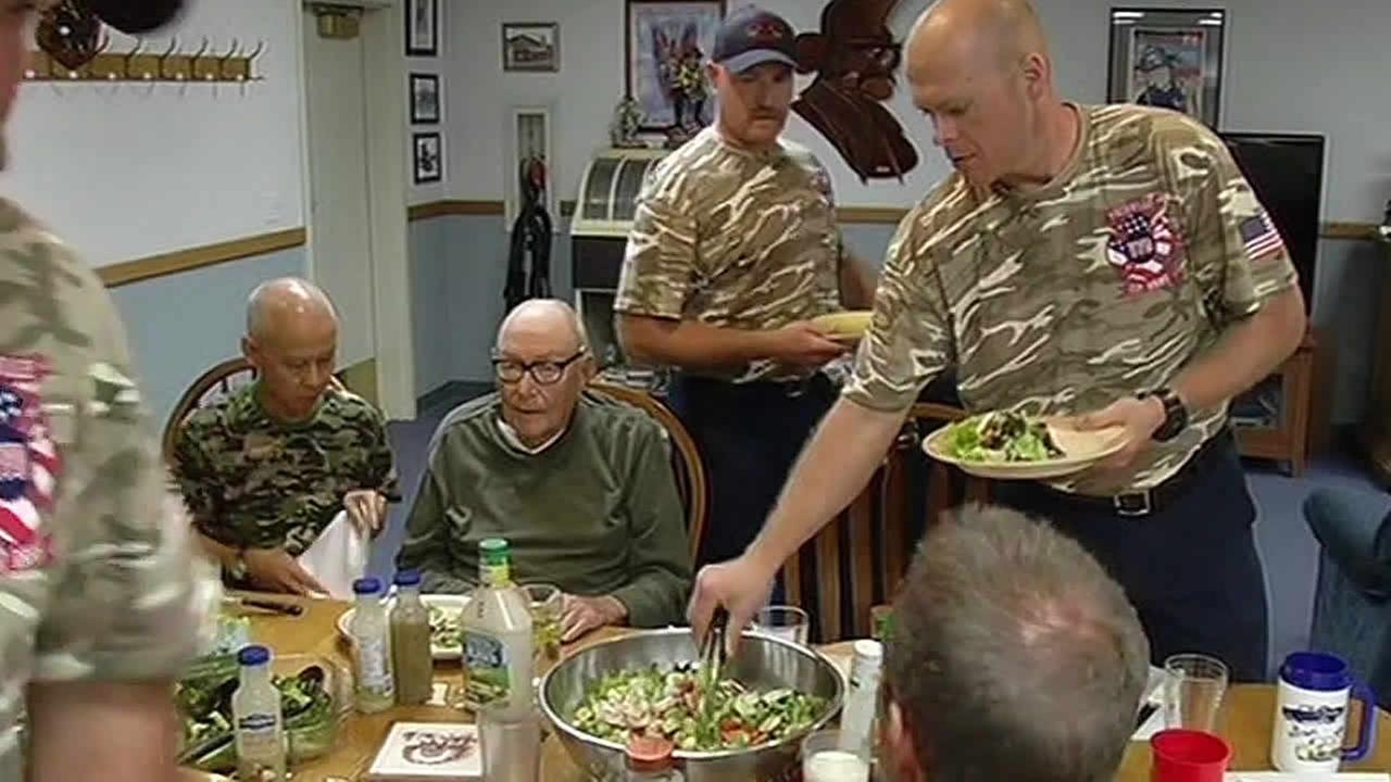 Firefighters in Vacaville feed veteran dinner