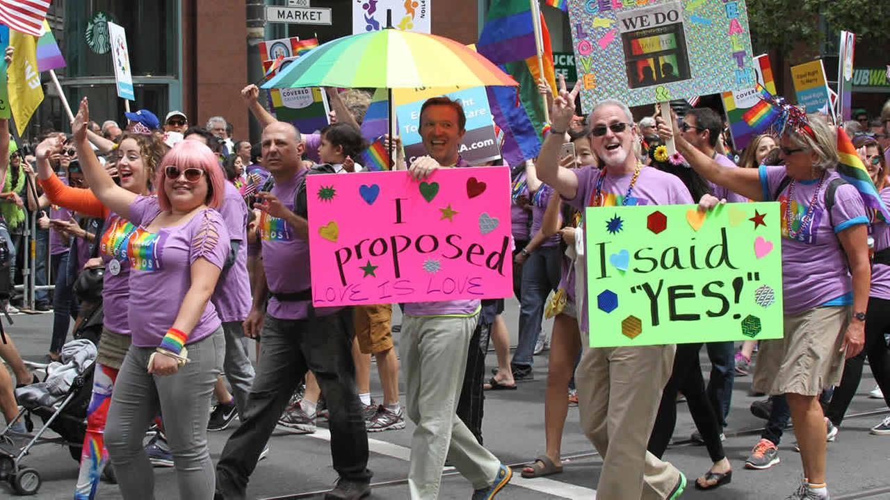 The 45th annual San Francisco Gay Pride parade took place Sunday, June 28, 2015, in San Francisco.Photo submitted to KGO-TV by Sreedhara A./uReport