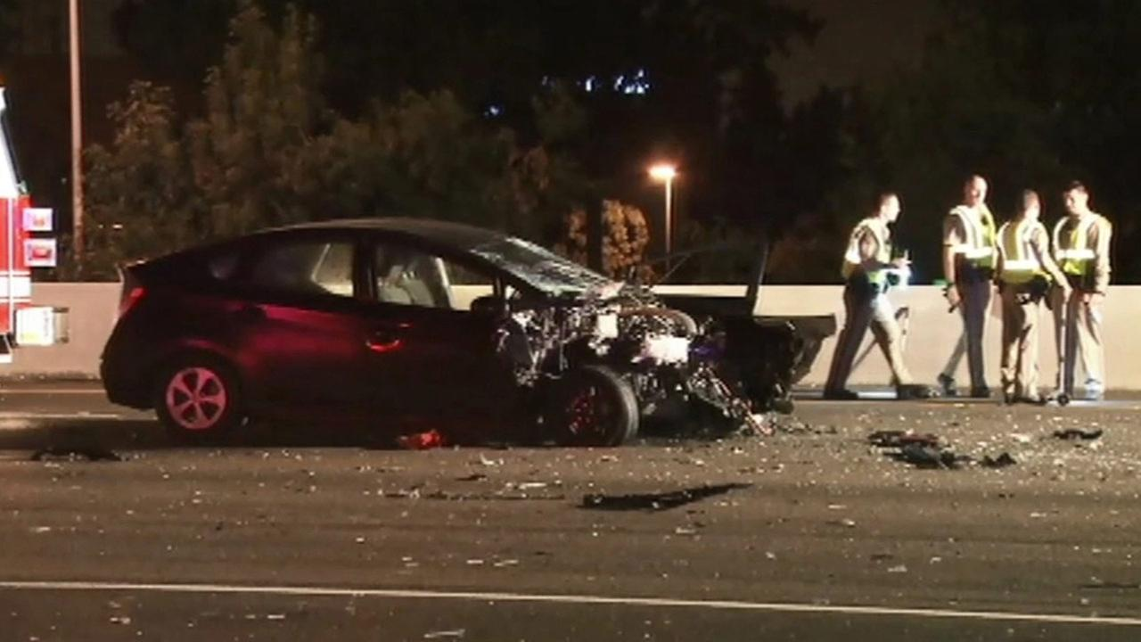 A fatal accident blocked all northbound lanes of I-880 in Milpitas early Monday, June 29, 2015.