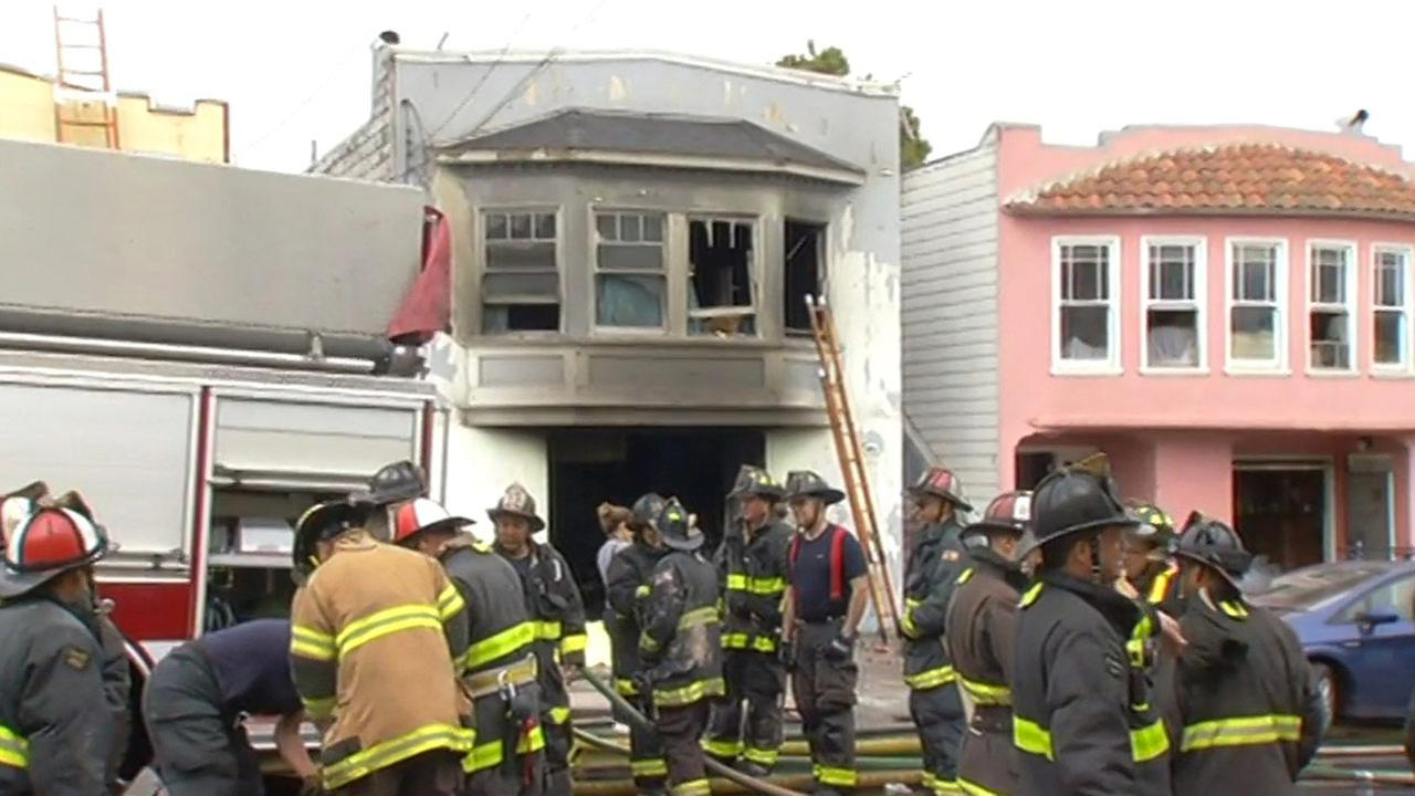Fire in San Franciscos Ingleside neighborhood, Monday, June 29, 2015.