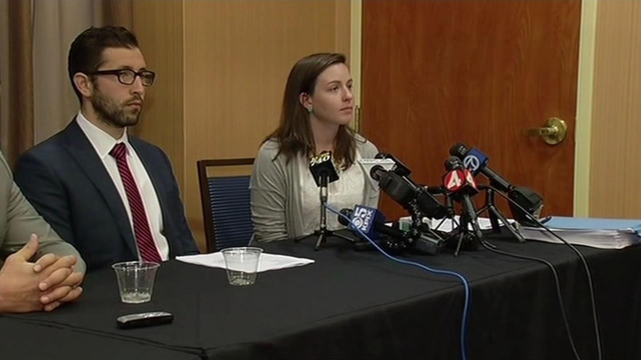 Sexual assault survivor and University of California Berkeley student Nicoletta Commins at a news conference Monday, June 29, 2015.