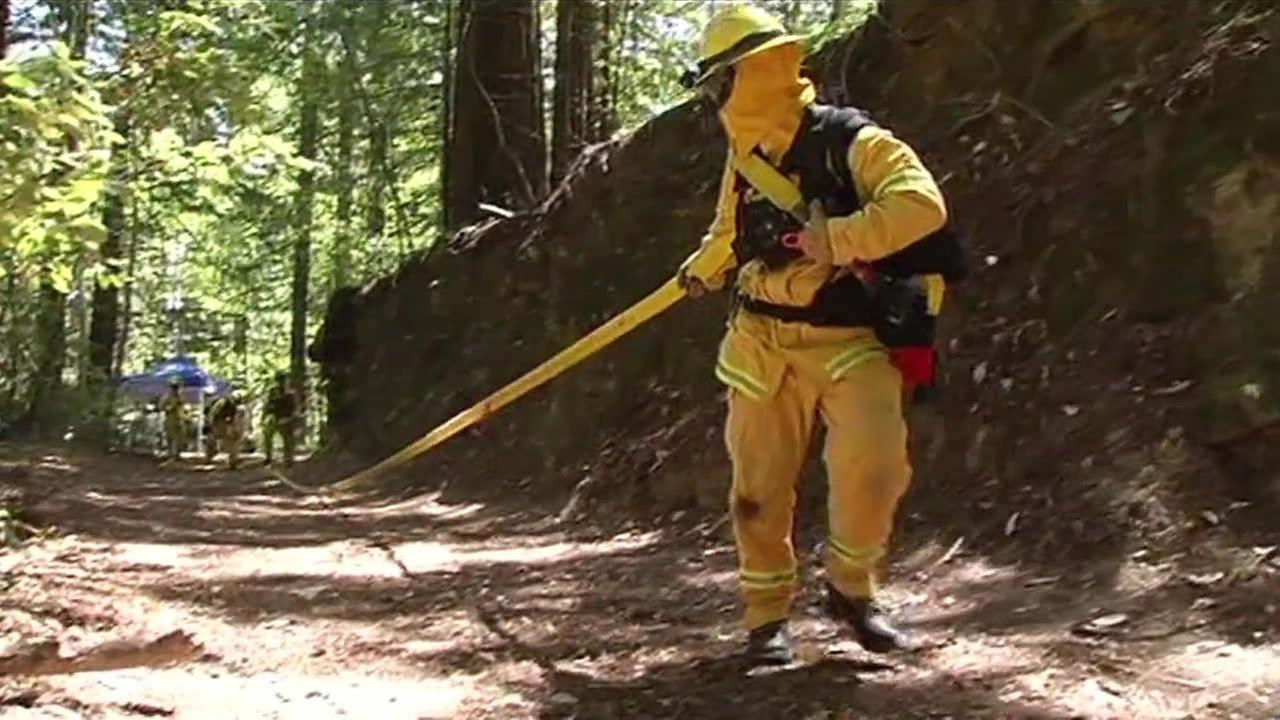 Firefighters were out training in oppressive heat in Sanborn County Park in Saratoga, Calif. on July 1, 2015.