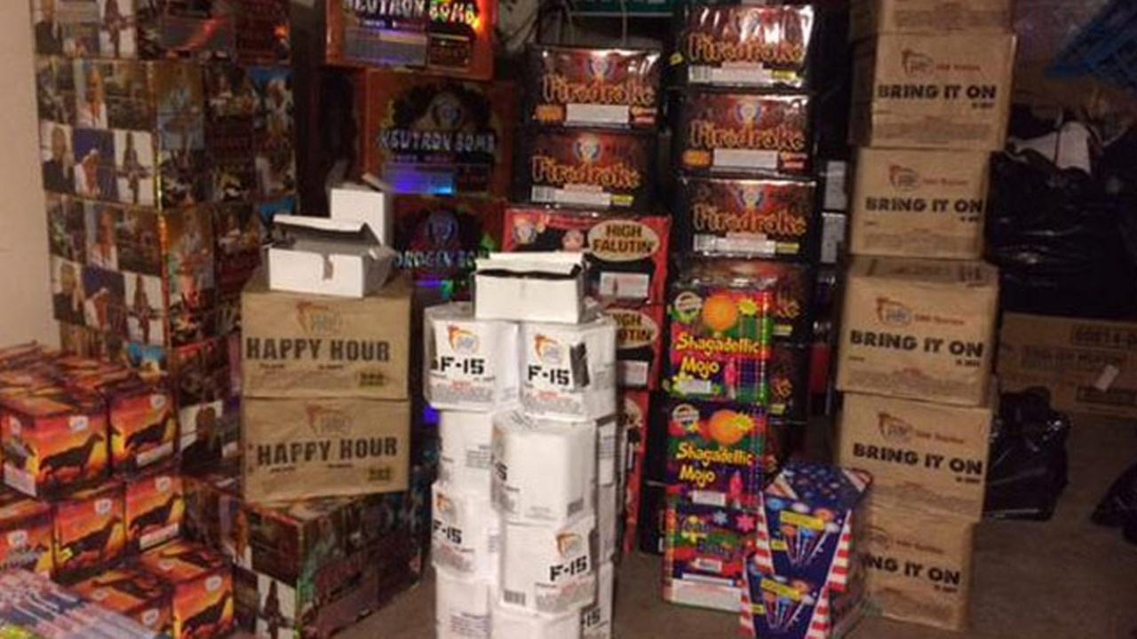 Massive fireworks bust in Oakland, Thursday, July 2, 2015.