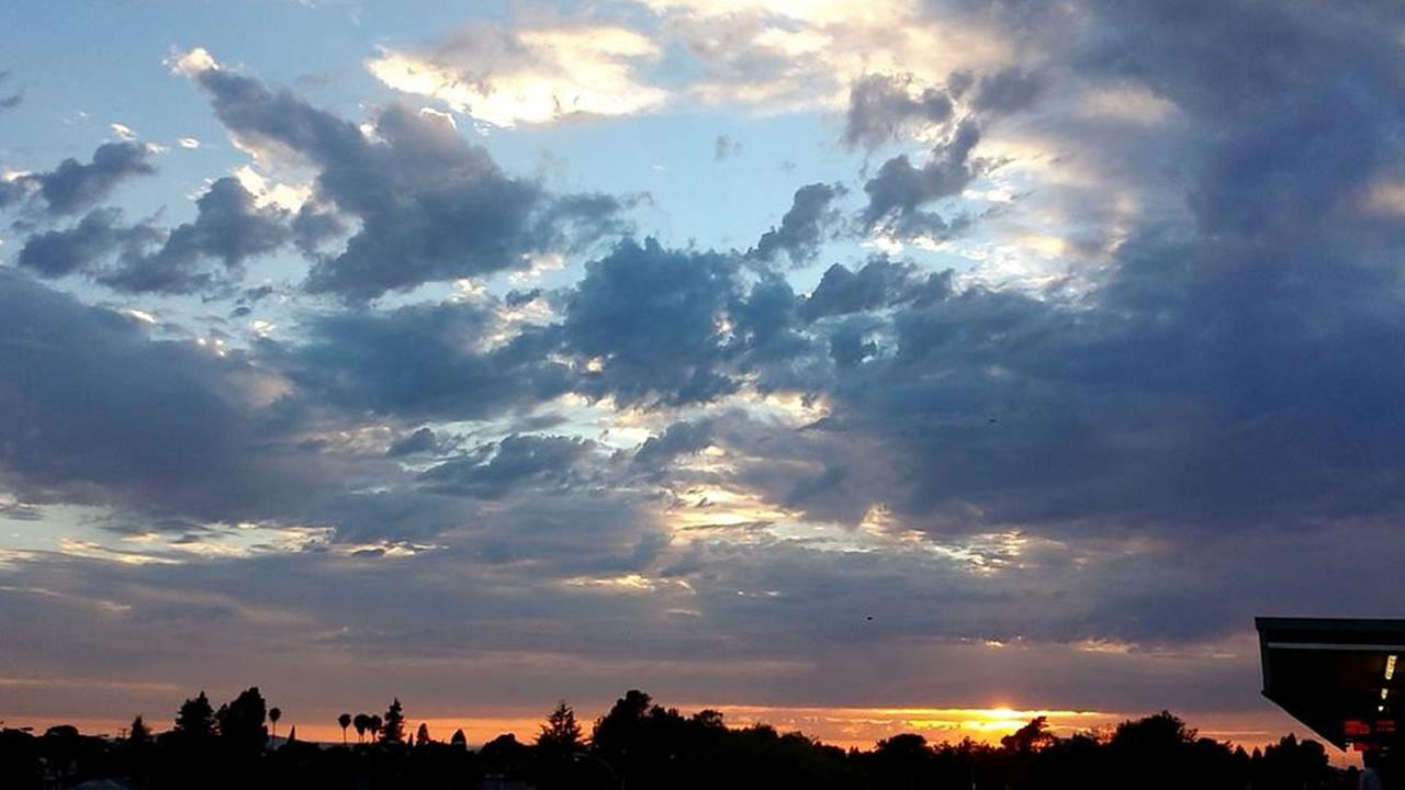 Beautiful sunsets were seen around the Bay Area on July 1, 2015.