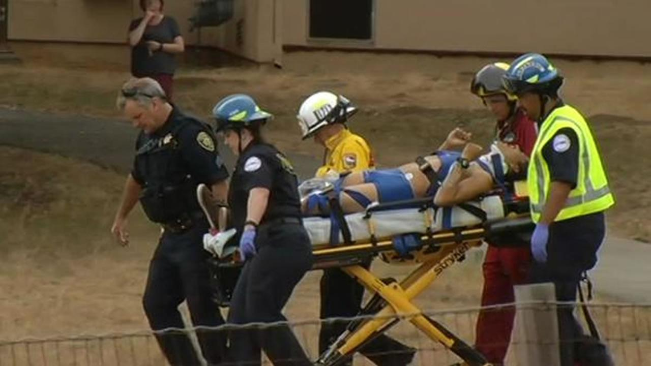 A man was airlifted to Stanford University Trauma Center after falling 60 to 70 feet from a redwood tree in Santa Cruz, Thursday, July 2, 2015.
