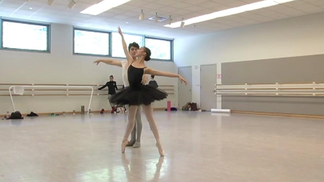 San Francisco Ballet School students practice for the Student Showcase.