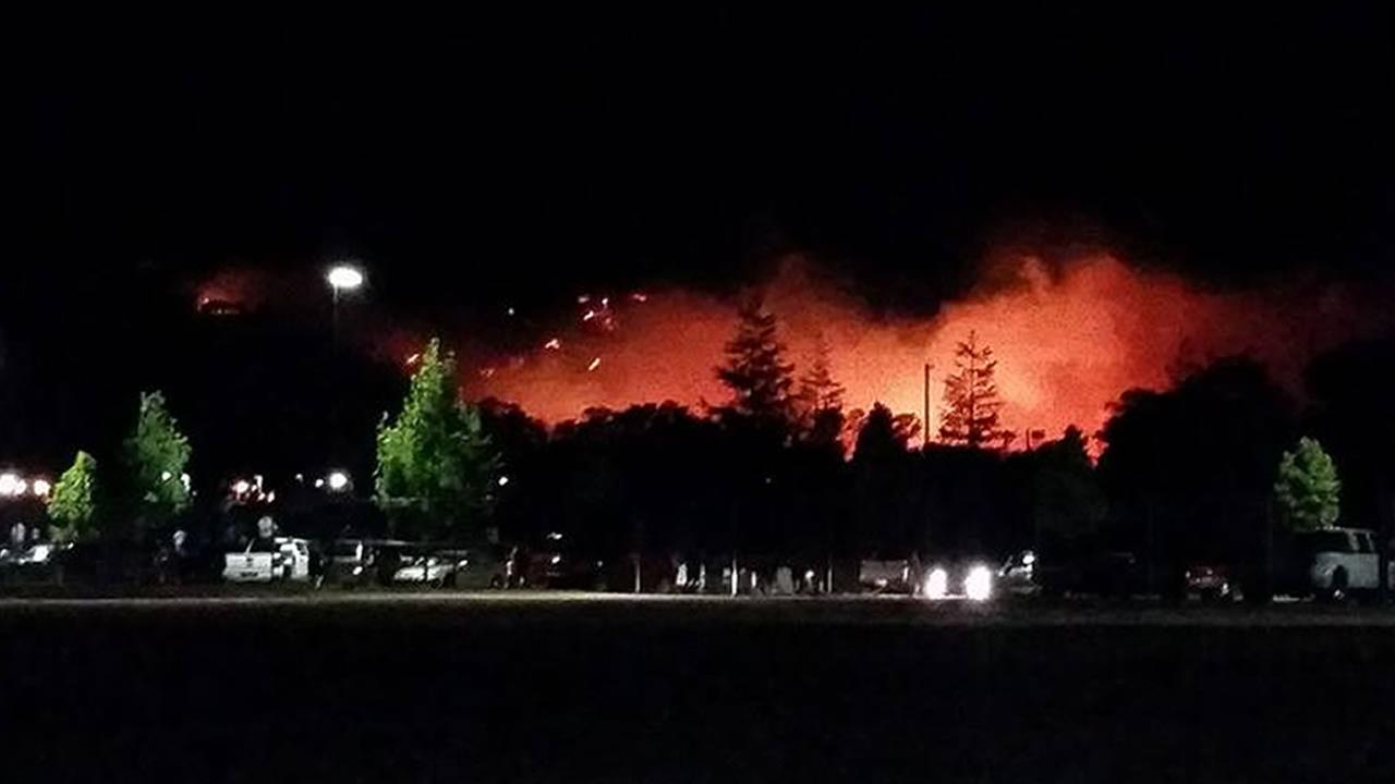 Pena Adobe Park fire