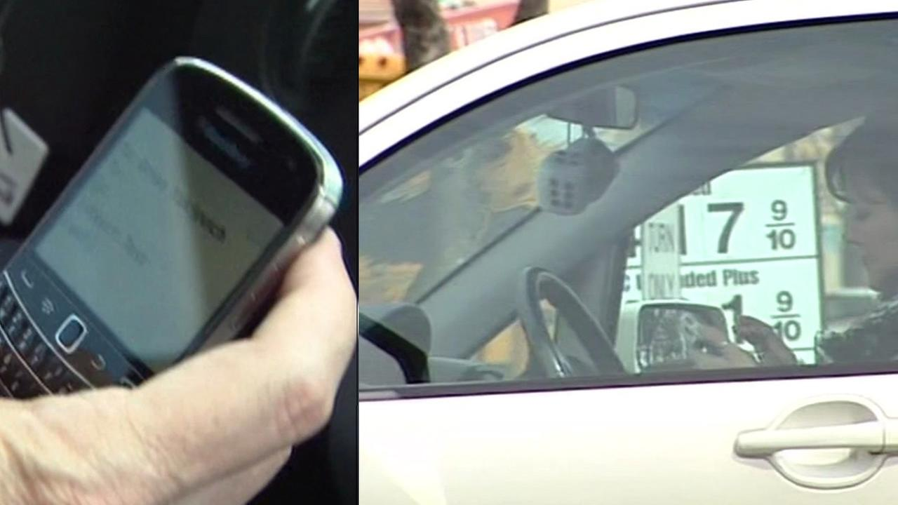 Police are cracking down on distracted driving in San Mateo County on Tuesday, July 7, 2015.