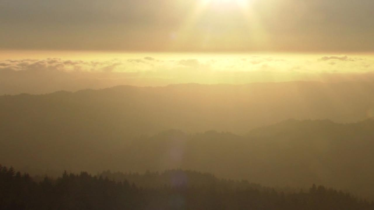 This beautiful sunset was captured by the ABC7 News Mount Tam camera in Mill Valley, Calif. camera on July 1, 2015.