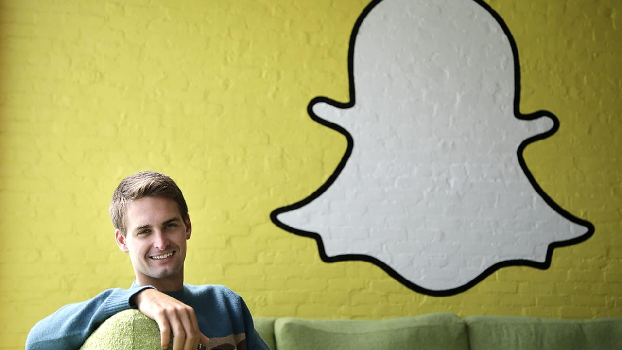 This Thursday, Oct. 24, 2013 file photo shows Snapchat CEO Evan Spiegel in Los Angeles. (AP Photo/Jae C. Hong, File)