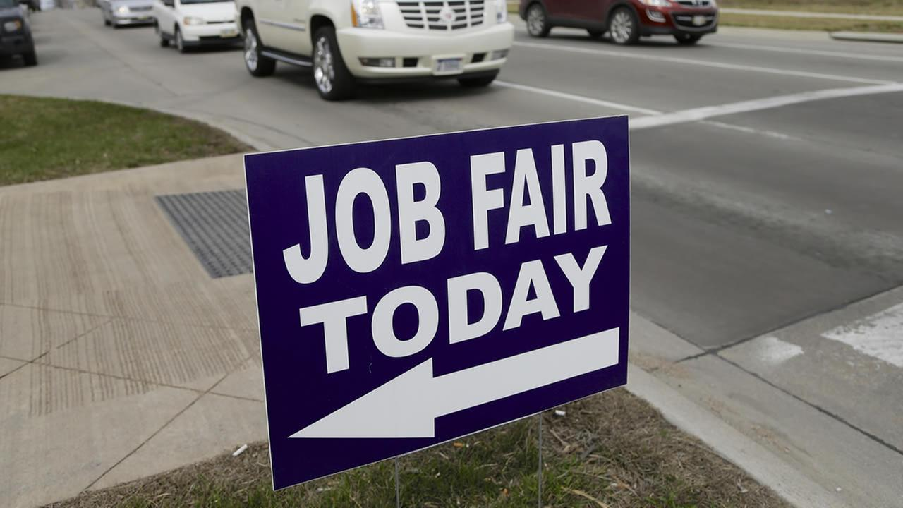 Job fair sign. (AP Photo/Nati Harnik)