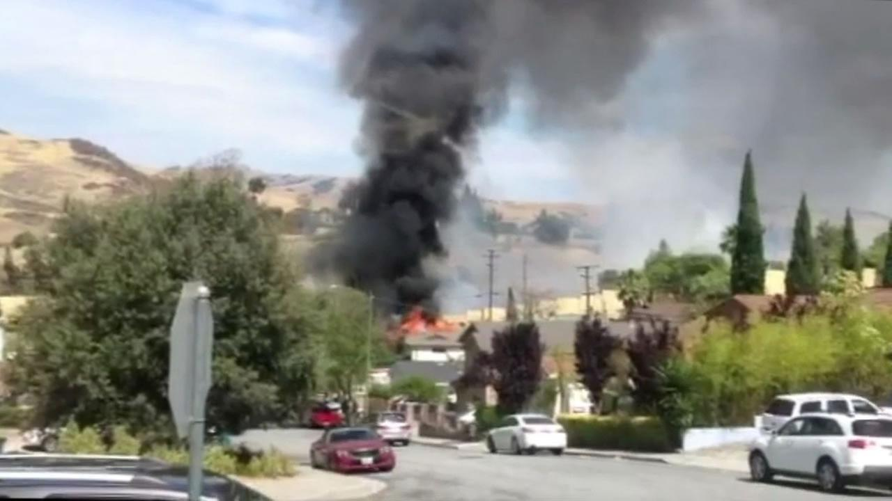 Three alarm fire burned five homes in san jose calif on sunday