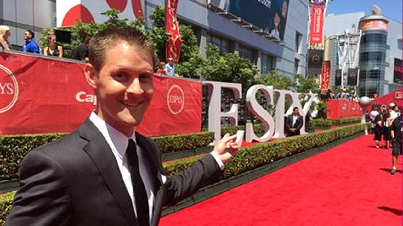 ABC7 News Sports Producer and Anchor Colin Resch is at the  ESPYS at the Microsoft Theater in Los Angeles on July 15, 2015.