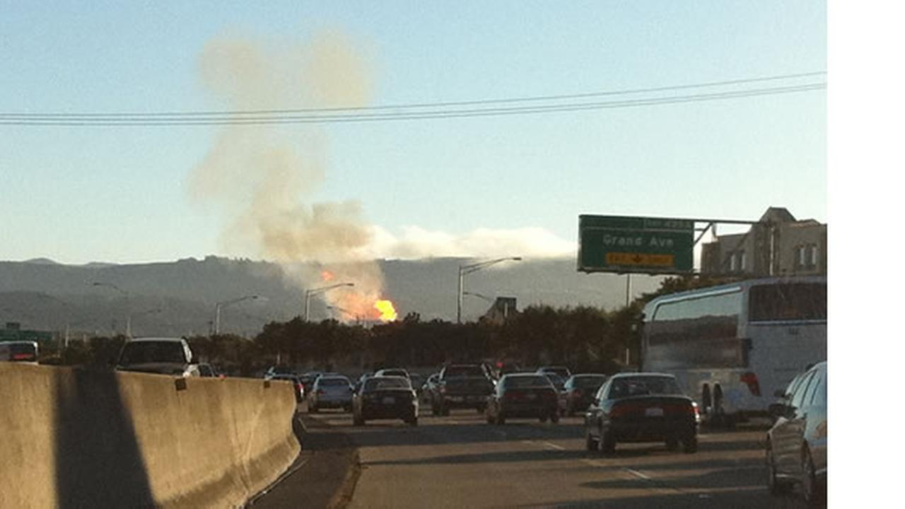 This is a photo of the large flames in San Bruno was submitted to uReport. Submit your photos to <a hrefmailto:ureport@kgo-tv.com>uReport@kgo-tv.com</a>, or visit <a hrefhttp://uReport.abc7news.com>uReport.abc7news.com</a>.