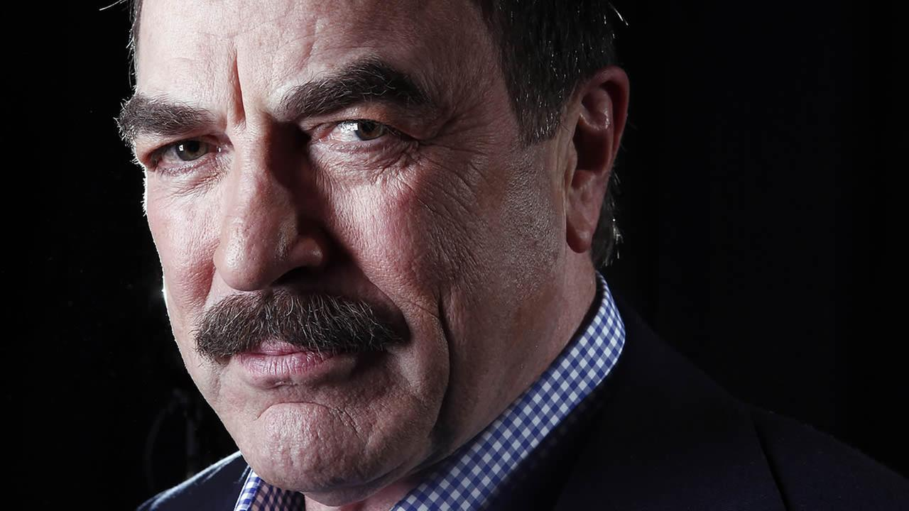 In this March 21, 2012 photo, Tom Selleck poses for a portrait in NY. The actor has settled a dispute in which he was accused of taking water he wasnt entitled to for his ranch. (AP Photo/Carlo Allegri)