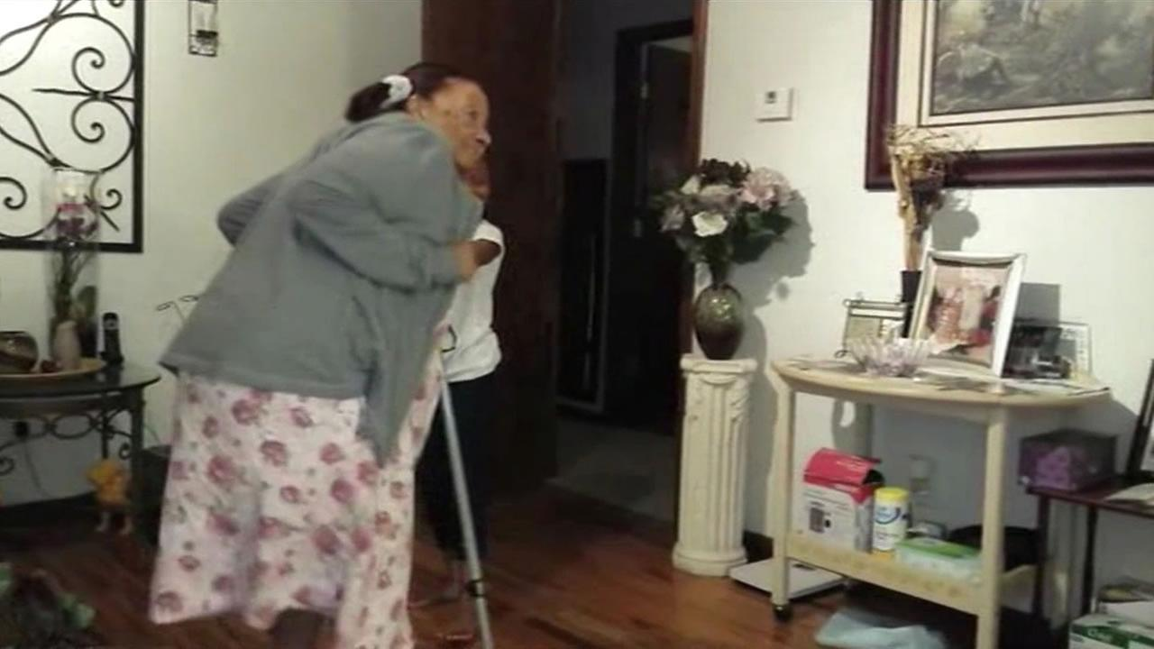 This undated image shows a 97-year-old great grandmother dancing with her great-granddaughter.