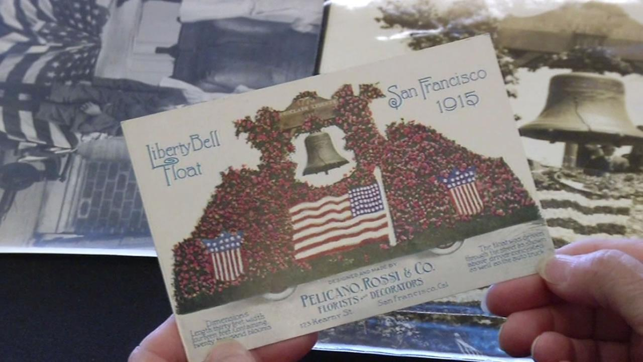 Postcard of the Liberty Bells visit to San Francisco