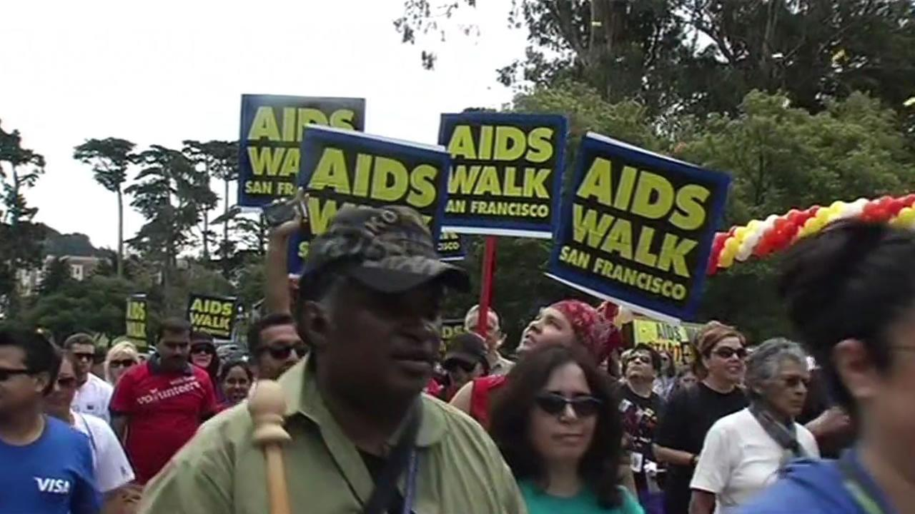 Roughly 20,000 people participated in AIDS Walk San Franciscos 29th annual fundraiser in Golden Gate Park, July 19, 2015.