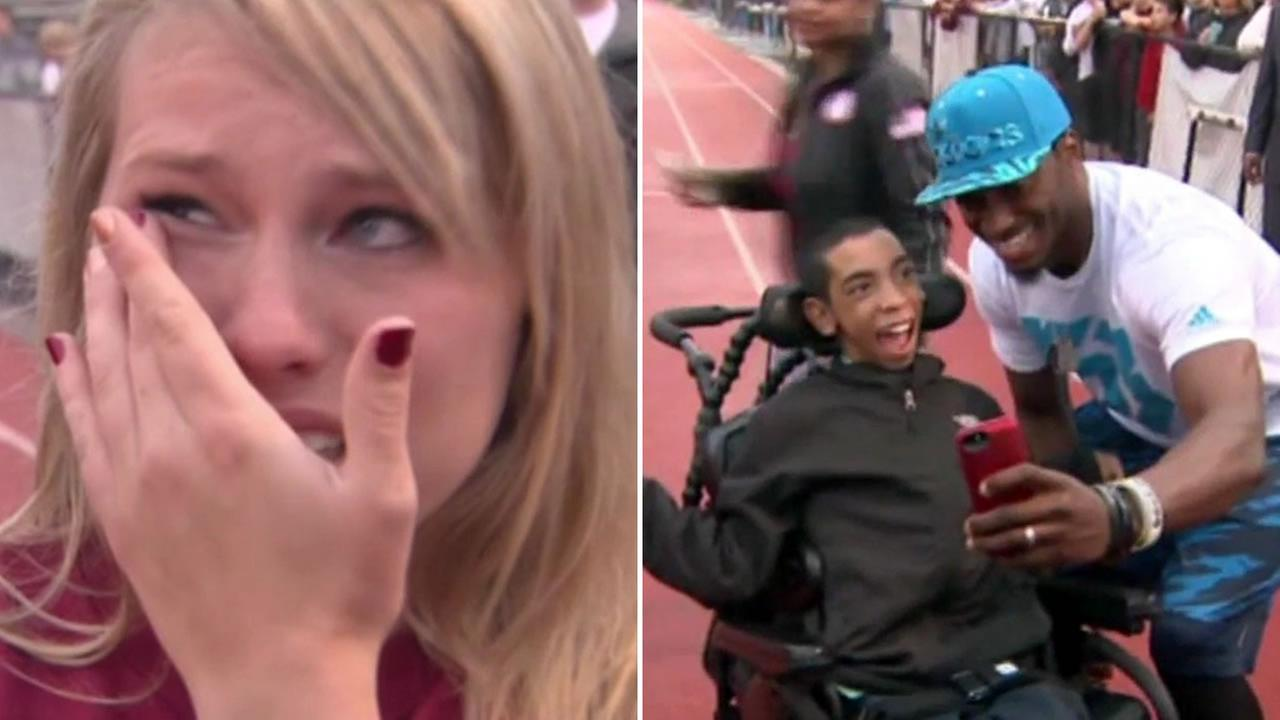 RGIII helps girl ask special needs boy to prom